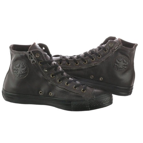 3381d4431e67 CONVERSE MENS LEATHER CHUCK TAYLOR BROWN SHOES